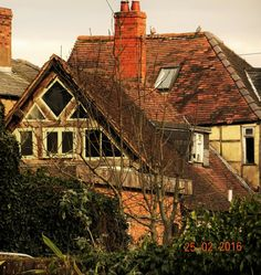 Rear view of neglected Tudor house, Leominster, Herefordshire