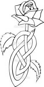 Celtic knotted rose - Stock Illustration