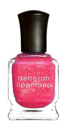 @deborah lippmann @Beauty Bridge Neon Pink Glittery Nail Polish. http://zodiacfashion.blogspot.com