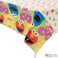 Our Sesame Street® Birthday Tablecloth is the perfect party supply to complete your tot's Sesame Street® birthday party décor! First Birthday Party Supplies, Birthday Table, 3rd Birthday Parties, Birthday Party Decorations, 2nd Birthday, Birthday Ideas, Sesame Street Party, Sesame Street Birthday, Plastic Tablecloth Decorations