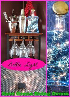 Bottle Light Craft Project using re-purposed bottle