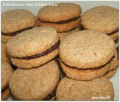 Kakaókrémes teljes kiőrlésű keksz
