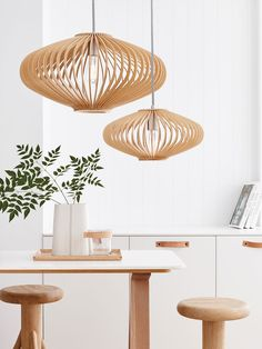 Kiel 360mm Natural Wooden Pendant | Scandinavian Lookbook | Lookbook