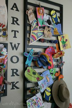 Word 2 Your Mama: Crib Repurposed for #Kids Art