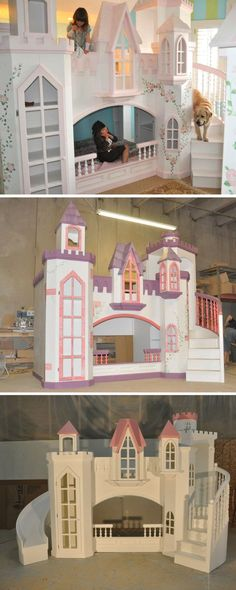 Braun Castle Bunk Bed - A Perfect Princess Castle Bed for Your Home
