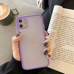 Simple Matte Shockproof Soft  Silicone Phone Case for I phone 11 ,Pro Max Xr Xs 6s 8 7 Plus - for iphone xr / purple