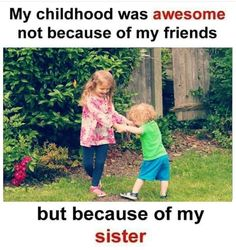 Tag-mention-share with your Brother and Sister 💙💚💛👍 Brother And Sister Relationship, Brother Sister Quotes, Love You Sis, Sister Love, Bro And Sis Quotes, Sadness Inside Out, Loving U, Childhood Memories, Best Friends