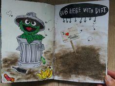 Wreck this journal by keri smith, geïnspireerd door sesamstraat een kinder tv programma