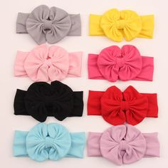 Retail Free shipping new design messy Kids bow headband cotton hairband cute kids head wrap knotted headband 9 colors #Affiliate