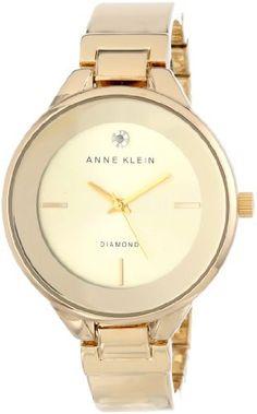 b7480a5f7f60 Reloj Anne Klein acento de Diamantes Dorado AK   1410CHGB