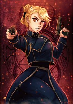 *loves Riza Hawkeye just a little too much*