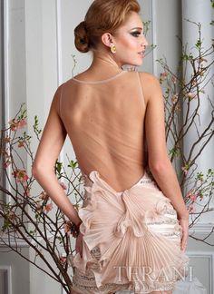 Amazing See through Back Chic Custom Made Dress C1298