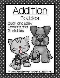 ** 50% OFF for the first two days! ** Addition Double - Quick and Easy Kittens and Puppies Centers and Printables #TPT $Paid