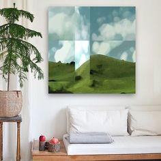 """Mount McCahon"" 2015 100x100cm Mixed Media on canvas #art#artwork#print #colour #painting #interior #newzealand"