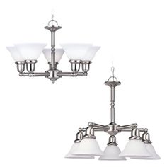Dining Room: Sussex 5-Light Brushed Nickel Chandelier