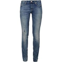 Marc By Marc Jacobs Denim Trousers ($125) ❤ liked on Polyvore featuring pants, jeans, bottoms, 14. pants., blue, denim pants, zipper pants, 5 pocket pants, blue trousers and zip pants