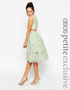 ASOS+PETITE+Prom+Dress+With+Floral+Embroidery+And+Cutout+Detail