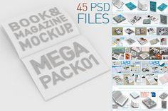 #mockup #mock up #Book & Magazine Mock Ups Mega Pack by akropol  on Creative Market
