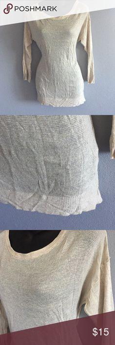 Brandy Melville Light weight, loose knit, 3/4 sleeve Brandy Melville Tops