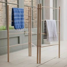 Pulleymaid™ Zig Zag Clothes Airer Dryer | Free Standing Wooden Clothes Drying Rack