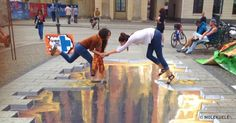 25Incredible Pieces ofStreet Art That Open aPortal toAnother World