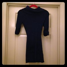 Philosophy Blue Sweater/Tunic Size medium gorgeous Philosophy brand dark blue sparkly top/tunic. Has a turtle neck collar and two pockets in the front. Philosophy Tops