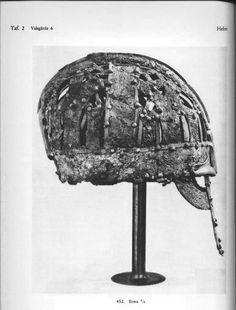 Valsgarde 6 Helmet side view. Vendel culture, Sweden, PREdates Viking era.