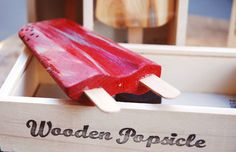 Wooden popsicles - what's not to like about that