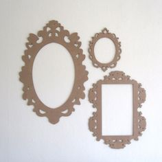 Decorative Cardboard Frame Cut Out - Baroque Laser Cut Wall Decor. $20.00, via Etsy.
