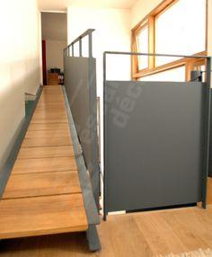 Escalier Hélicoïdal et passerelle type pont de bateau métal et bois. - ESCALIERS DÉCORS®
