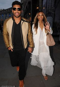 Newlyweds: Ciara and Russell Wilson stepped out in London on Thursday after getting marrie...