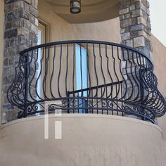 Iron Railings from First Impression Ironworks are crafted uniquely for your home. Our wrought iron railings are an investment that […] Iron Gates, Iron Doors, Balcon Juliette, Dream Home Design, House Design, Balcony Railing Design, Iron Railings, Design Consultant, Wrought Iron