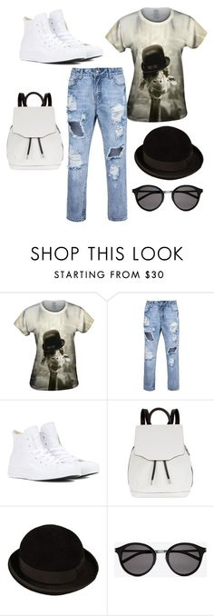 """Untitled #80"" by anabaca ❤ liked on Polyvore featuring Converse, rag & bone, CÉLINE and Yves Saint Laurent"