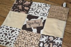 Super Cute Western Baby Security Blanket/Lovey Special by CountryCozyByRB, $26.00