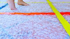 Fun sensory craft for kids: Make a Bubble Wrap Rug!