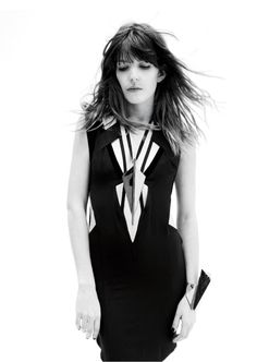 """Lou Doillon French girl style """"""""The French girls all dressed in black, with that 'yeah I'm sexy but with a brain,'"""" says Doillon. """"It's knowing about when to stop. I was in L.A. for a couple of weeks and I was like, 'Whoa, you should have stopped before,' because there is the hair, the shoes, the nails, the bag, and the earrings, and the makeup—it's so much bloody information that you've lost the girl!"""""""