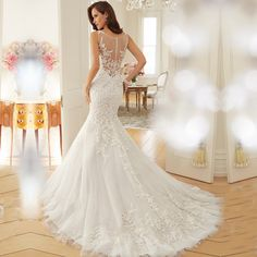 Cheap bridal gown, Buy Quality mermaid bridal gown directly from China bridal gown design Suppliers: 			  							>>Welcome to I Do Wedding Dress Store<<							>Click These Links To View Much More Model