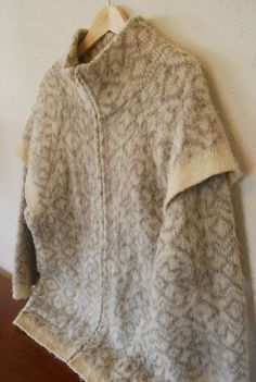 vintage iceland knit pure wool zipped front by olliesvintage, $40.00