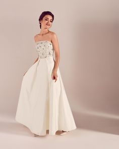 d527996cceb64e  WedWithTed  TedBaker  Contest Embellished bodice maxi dress - White