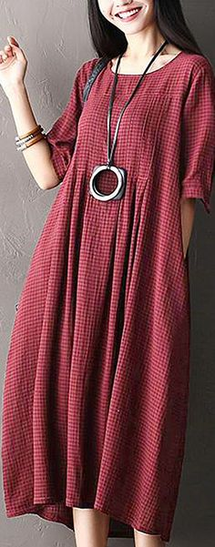 New womens dress pattern sewing products ideas Vintage Dresses Online, Cool Outfits, Casual Outfits, Half Sleeve Dresses, Dresses Dresses, Plus Size Vintage, Dress Sewing Patterns, Pattern Sewing, Mode Chic