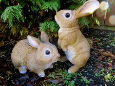 http://www.ebay.com/itm/2-Rabbit-Bunny-Figurines-Country-PetPals-Resin-Statue-Ornament-New-Bunnies-/371784237731