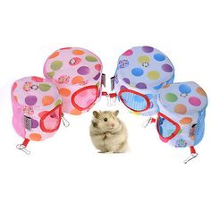 Pets Hamster Mice Gerbil Rabbit Cute Lovely Summer Breathable Hanging House S M