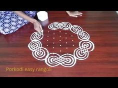 Simple Rangoli Designs Images, Rangoli Designs Latest, Small Rangoli Design, Rangoli Ideas, Rangoli Designs Diwali, Rangoli Designs With Dots, Diwali Rangoli, Rangoli With Dots, Beautiful Rangoli Designs