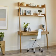 Browse our wide selection of Mid Century Modern furniture to bring effortless style to your home with beautiful modern desks & decor. Desk In Living Room, Bedroom Desk, Desk In Small Bedroom, Desks For Small Spaces, Small Space Office, Home Office Design, Home Office Decor, Home Decor, Office Ideas