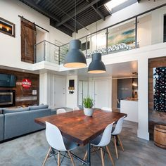 #Vintage Modern Double Height #Loft in Vancouver by design_interior_homes