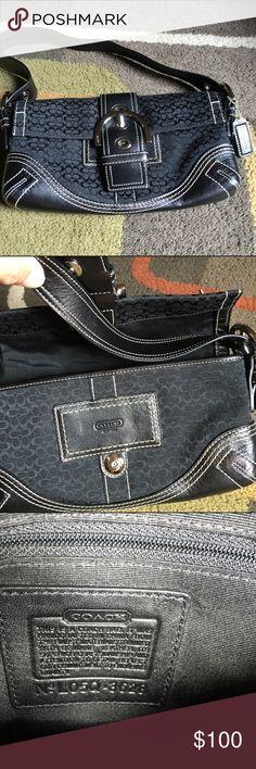 "Coach bag  Coach Soho signature flap small shoulder handbag  bag measures approx 10""across by 6"" high  Coach Bags Shoulder Bags"