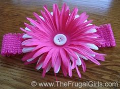 how to make those cute headbands with big flowers/bows for baby girls :) I will definitely need this one day!! @Emily Kozluk