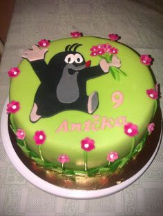 Narozeninový dort - Krteček Girl Cakes, Cake Designs, 2nd Birthday, Fondant, Kindergarten, Food And Drink, Desserts, Kids, Birthdays