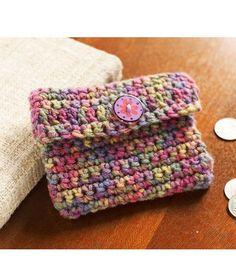 Crochet Change Purse By Bobbi Anderson - Free Crochet Pattern - (redheart)* ༺✿ƬⱤღ  http://www.pinterest.com/teretegui/✿༻