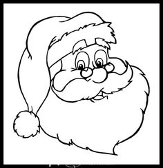 Santa Coloring Pages, Coloring Pages To Print, Free Printable Coloring Pages, Coloring For Kids, Coloring Pages For Kids, Coloring Books, Printable Christmas Coloring Pages, Coloring Sheets, Adult Coloring